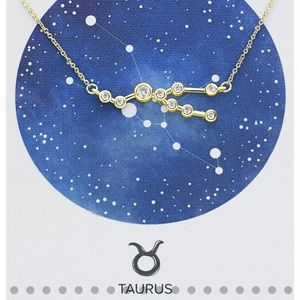 Gold Constellation Necklace- Taurus